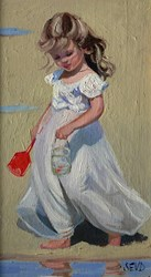 The Big Catch by Sherree Valentine Daines - Original Painting on Board sized 7x12 inches. Available from Whitewall Galleries